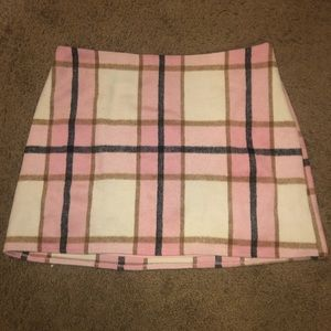 Forever 21 Pink Plaid Skirt